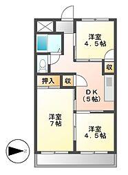 VIP7[5階]の間取り
