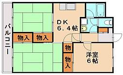 タイラコーポ[4階]の間取り