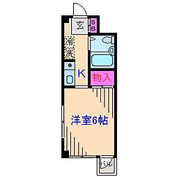フラワーコーポ[3階]の間取り