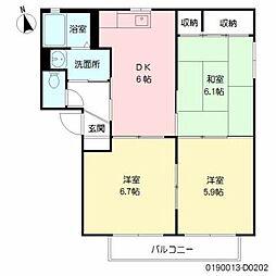コンフォール川原田D棟[1階]の間取り