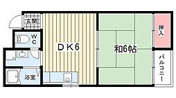 内藤マンション[102号室]の間取り