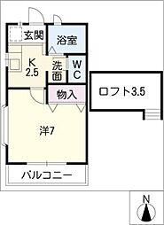 シャネル[2階]の間取り