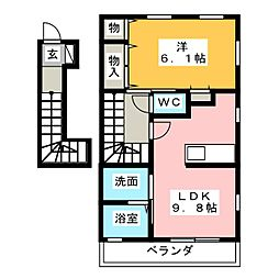 ganador 21 A[2階]の間取り