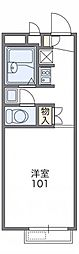 JR片町線(学研都市線) 忍ヶ丘駅 徒歩10分の賃貸アパート 2階1Kの間取り