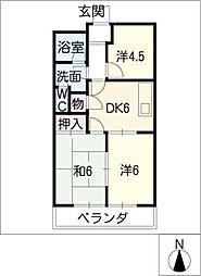 エクシード日比野[3階]の間取り