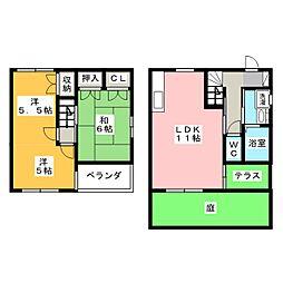 [テラスハウス] 静岡県磐田市松本 の賃貸【/】の間取り