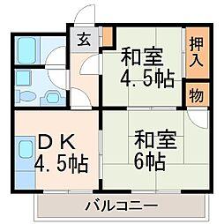 植田マンション[1階]の間取り