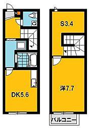 [テラスハウス] 栃木県宇都宮市インターパーク3丁目 の賃貸【/】の間取り