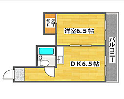 ギャレ住之江[5階]の間取り