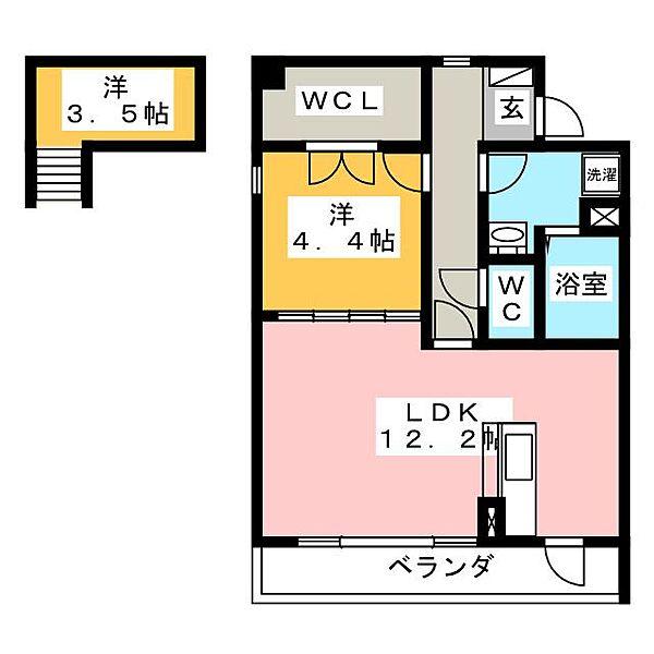 ルネスSUWA[3階]の間取り