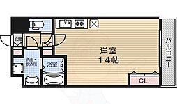 LA・VITAROSA松栄 2階ワンルームの間取り