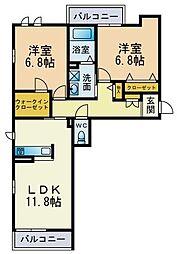 Ecrarge[1階]の間取り