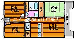 岡山県岡山市南区新保の賃貸マンションの間取り