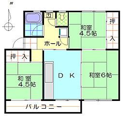 狭山住宅38棟[405号室]の間取り