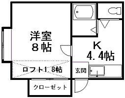 カーサ・アミーコ[203号室]の間取り