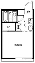 生田パークハウス[105号室号室]の間取り
