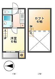 ナディアK・N[1階]の間取り