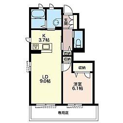 クオリスタ志木[1階]の間取り
