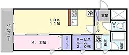YF宮山台ガーデン[3階]の間取り