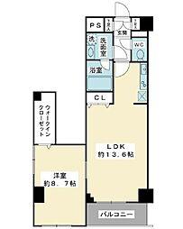 スカール富士見[5階]の間取り