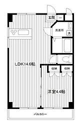 神奈川県横浜市中区新山下1丁目の賃貸マンションの間取り