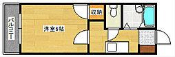 ラフォーレ上野[202号室]の間取り