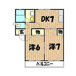 ガーデンハイツ(上飯田)[101号室]の間取り