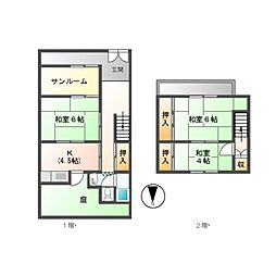 [一戸建] 愛知県名古屋市千種区大島町2丁目 の賃貸【/】の間取り