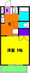 静岡県磐田市中泉2丁目の賃貸マンションの間取り