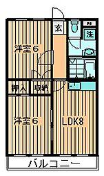 マンションワイズII[2階]の間取り