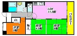 アンドユーイワキ・東大阪 504号室[5階]の間取り