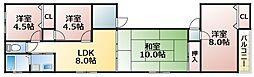 大阪府大阪市生野区小路3丁目の賃貸マンションの間取り