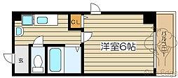 プレミアム新福島[7階]の間取り