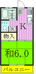 千葉県松戸市西馬橋蔵元町の賃貸アパートの間取り
