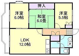 ニューマリッチ有楽I[4階]の間取り