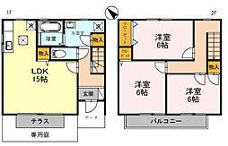 [タウンハウス] 兵庫県神戸市西区伊川谷町潤和 の賃貸【兵庫県 / 神戸市西区】の間取り