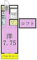 第12ヒカリハイツC棟[2階]の間取り
