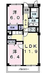 フローレスSUZUKI[105号室]の間取り