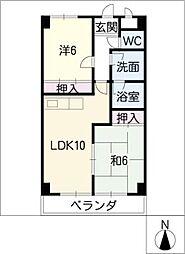 メゾンドボヌー小田井[3階]の間取り