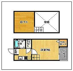 福岡県福岡市早良区室見4丁目の賃貸アパートの間取り