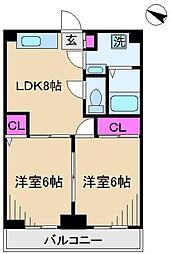 ドミール板橋本町[4階]の間取り