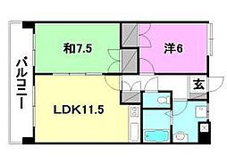 UTARA HOUSE[301号室]の間取り