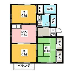 グランリヴェール[2階]の間取り