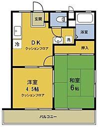メゾンドール新井A棟[2階]の間取り
