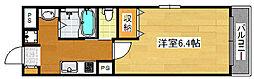 南海線 粉浜駅 徒歩1分の賃貸マンション 1階1Kの間取り