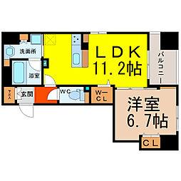 ルーエ錦[6階]の間取り
