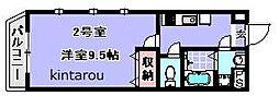 スパシーバ検見川[302号室]の間取り