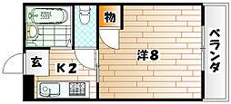 ハイツ大木II[4階]の間取り