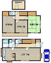 [一戸建] 東京都練馬区西大泉3丁目 の賃貸【/】の間取り