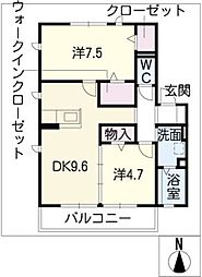 Cerfeuil A[1階]の間取り